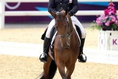 Londen Olympische Spelen. Andew Heffernan en Millthyme Corolla.